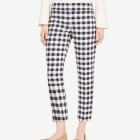The Crop Pant in Gingham - Devin Fit | Ann Taylor
