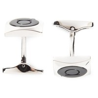 Salvatore Ferragamo circle square cufflinks