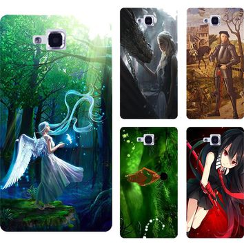 New Fashion printed phone case cover for LG Optimus L9 II L9II D605 Nice Girl Angel Cat design Hard plastic painting back cover