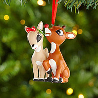 Department 56 2.5-in. Rudolph the Red-Nosed Reindeer and Clarice Ornam