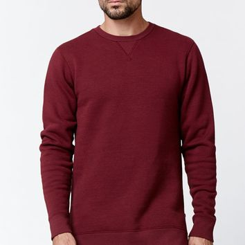 On The Byas Henzo Side Zip Crew Neck Sweatshirt - Mens Hoodies - Red