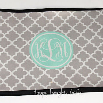 Monogrammed Computer Sleeve - Personalized Laptop Case- Custom Monogrammed Gift