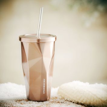 2013 Starbucks Rose Gold Stainless Steel Cold Cup Tumbler - NWT - RARE