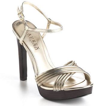Lauren Ralph Lauren Firala Leather Platform Pumps