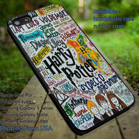 Art Collage Harry Potter Manual Drawing iPhone 6s 6 6s+ 5c 5s Cases Samsung Galaxy s5 s6 Edge+ NOTE 5 4 3 #movie #HarryPotter dt