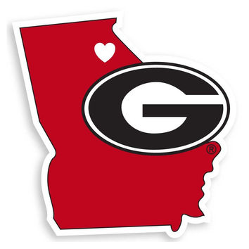 Georgia Bulldogs Home State Decal CHSD5