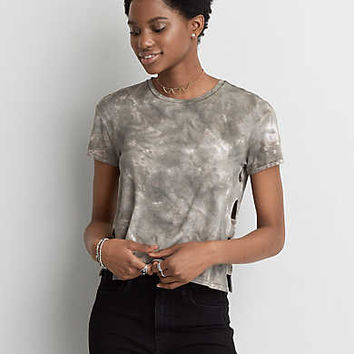 AEO Soft & Sexy Side Bar T-Shirt, Olive