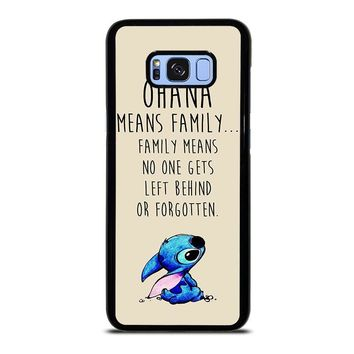 STITCH LILLO OHANA FAMILY QUOTES Samsung Galaxy S8 Plus Case Cover