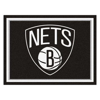 Brooklyn Nets NBA 8ft x10ft Area Rug