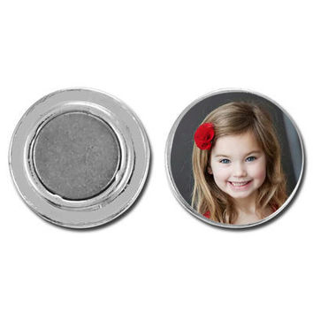 Magnetic Photo CHARM.....for use with interchangeable photo charm jewelry.  Gift, Birthday gift, mothers gift