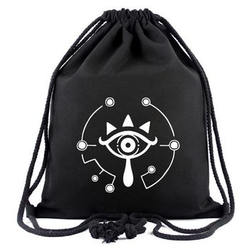 Anime Backpack School Black Color kawaii cute One Piece the Skull of Luffy Drawstring Backpack Tokyo Ghoul Portable Bag JOJO Shoulder Bag Naruto Gift Bag AT_60_4