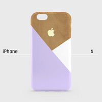 iPhone case - Pastel violet layered wood pattern - iPhone 6 case, iPhone 6 Plus case, iPhone 5s case, iPhone 5 case non-glossy