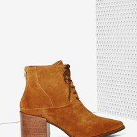 Matisse Vixen Lace-Up Leather Boot - Brown