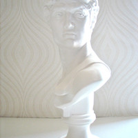 David Bust Statue in white