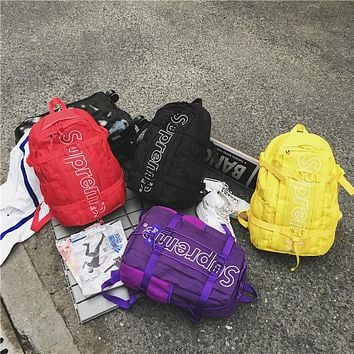 Supreme Casual Sport Laptop Bag Shoulder School Bag Backpack