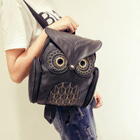 2017 women backpack bolsa feminina mochila femininas owl PU leather female bag ladies college school student printing backpack