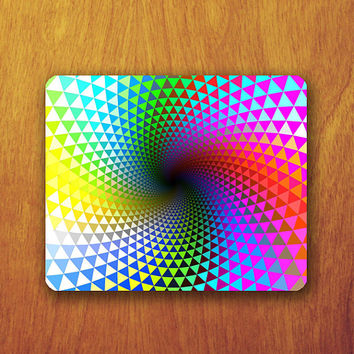 Geomatric Colorful Mouse Pad Rainbow Triangle Circle Abstract MousePad Office Pad Work Accessory Personalized Custom Gift