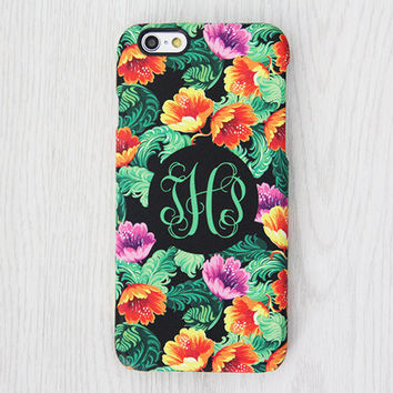 Vintage Floral Monogram iPhone 6 Case iPhone 6 plus Case Custom Initial iPhone 5S Case iPhone 5C Case iPhone 4 Galaxy S6 Edge S5 S4 Case 057