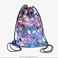 Galaxy Bakery & Cat Drawstring Backpack/Bag