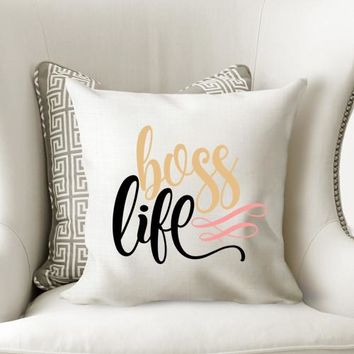 Boss Life Decorative Throw Pillow
