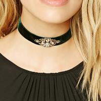 Ornate Filigree Velvet Choker