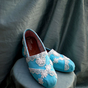 Custom TOMS -- Wedding TOMS -- Size 10 -- The Julia design