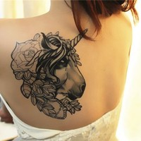MagicPieces Temporary Tattoo Sticker- The Unicorn Large: 14 * 18 cm