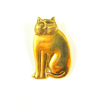 Laurel Burch Gold Mystic Cat Pin