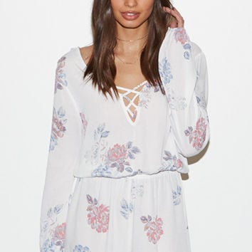 Kendall and Kylie Cross Front Long Sleeve Romper at PacSun.com