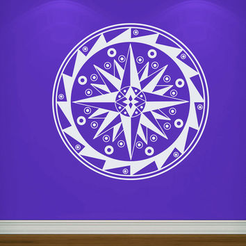 Flower Wall Decals Mandala Om Yoga Indian Pattern Compass Living Room Interior Vinyl Decal Sticker Art Mural Bedroom Kids Room Decor MR368
