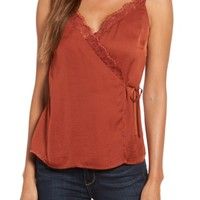 Chelsea28 Satin Wrap Camisole | Nordstrom