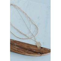 Square Pendent Necklace