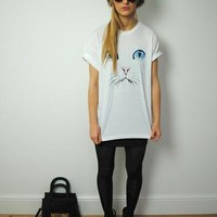 Amazing Cat Face Tee T Shirt Top from thesavagesister