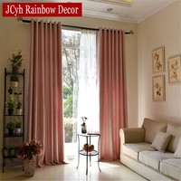 Soild Home Decor Blackout Curtains For Living Room Bedroom Blue Green Kids Baby Room Curtains Kitchen Window Blind Drapes