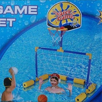 Swimming Pool  Basketball Toys Outdoor 2 in 1 Kids Set Water Game Football