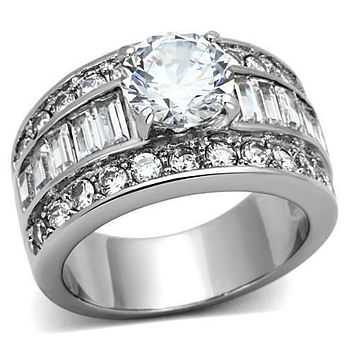 SALE  2CT Round Cut Russian Lab Diamond Anniversary Ring