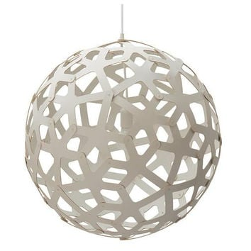 David Trubridge White Coral Pendant Light