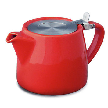 Modern Everyday Use Ceramic Teapot with Loose Tea Infuser