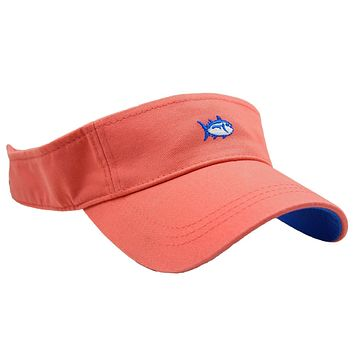 Mini Skipjack Visor in Coral by Southern Tide