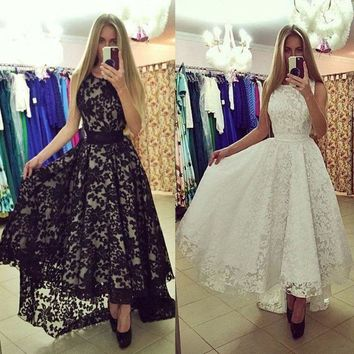 Women Lace Evening Party Dress Prom Gown