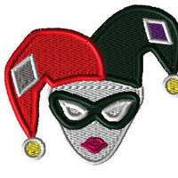 """Harley Quinn Patch (4"""" Iron On)"""