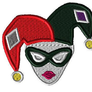 "Harley Quinn Patch (4"" Iron On)"