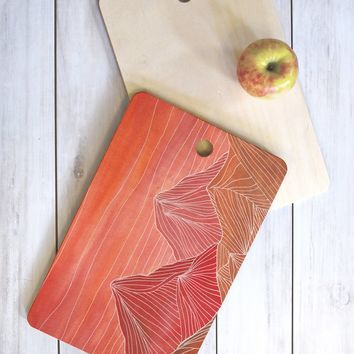 Viviana Gonzalez Lines in the mountains V Cutting Board Rectangle | DENY Designs Home Accessories