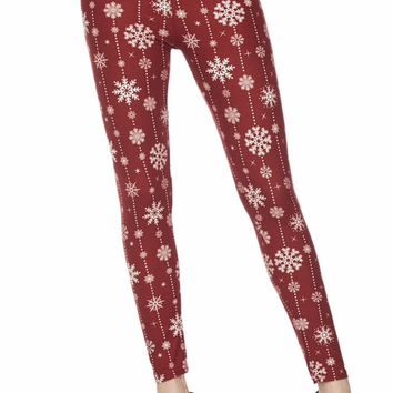 Christmas Snowflakes Buttery Soft Leggings