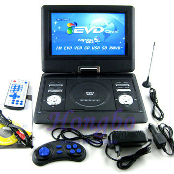 13.8 Inch Portable DVD Player With Game and radio Function,  Game Function, Support SD / MS / MMC Card