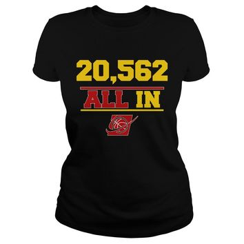 20 562 Cleveland Cavaliers T Shirt Premium Fitted Ladies Tee