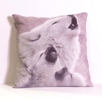 Howling Wolves Pillow