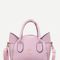 Cat Design Satchel Bag