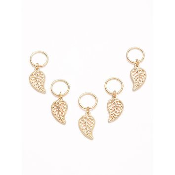 5PCS Gold Plated Leaf Hair Accessories