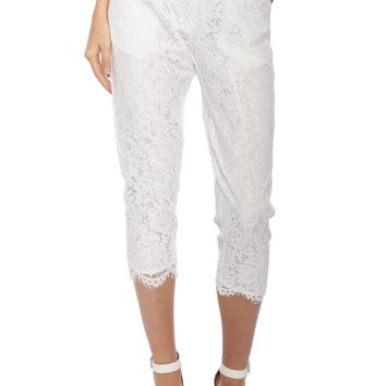 Robertson & Rodeo Lace Scallop Crop Pants
